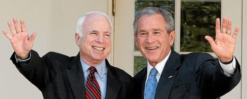 John McCain et George W. Bush semblent toujours indissociables pour les médias américains et le public. Les électeurs saisiront-ils cette chance de se débarrasser des deux le même jour ?