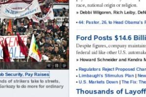 La grève vue par les médias US